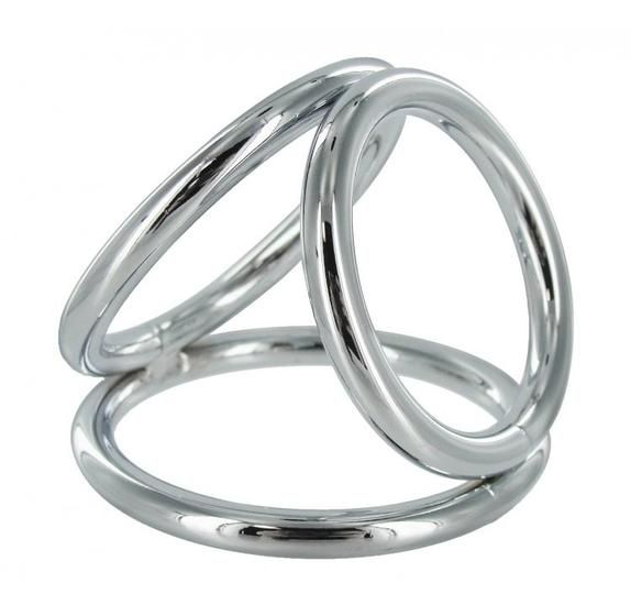 Enclose Your Member in Chrome This XR Triad Cock Ring Set takes the stimulating world of cock rings to new orgasmic extremes. The three O-rings literally encase your penis and balls in chrome-plated stainless steel to provide ultimate levels of stimulation and have you lasting for longer.  A cock ring provides an amazing constriction of blood that will leave your manhood engorged, super hard and lasting much longer than usual.