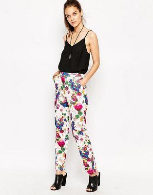 Daisy Street - Pantalon imprimé à fleurs. Taille 36.