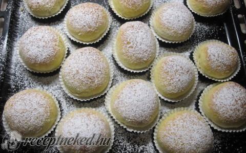 Nutellás muffin fánkok recept fotóval
