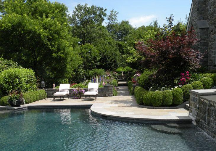 Beautiful backyard designed by hess landscape architects for Hess landscape architects