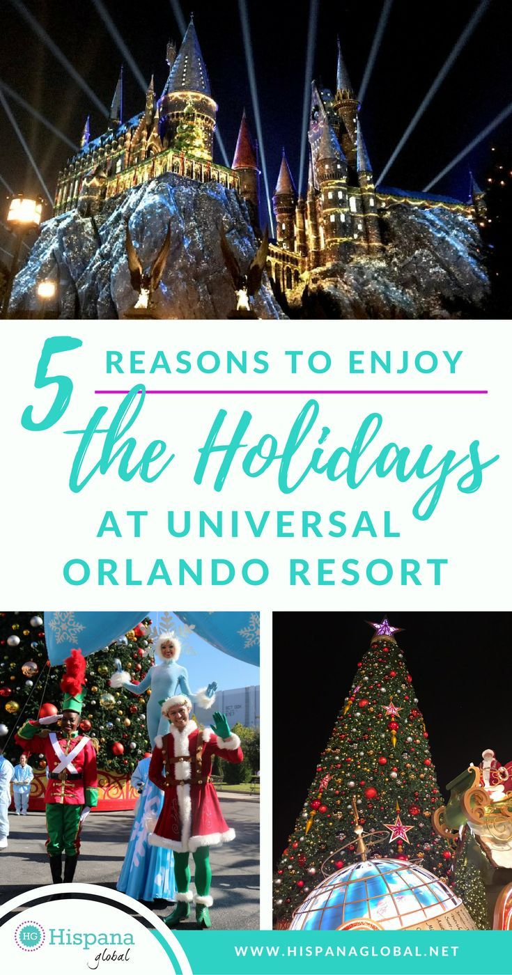 Find Out Our 5 Favorite Reasons To Enjoy The Holidays At Universal Orlando Resort In Florida With Att Universal Orlando Resort Orlando Resorts Holiday Resort