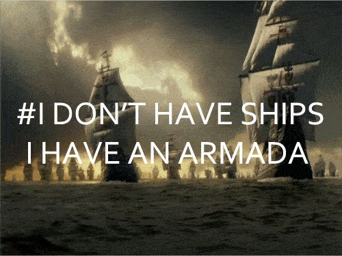 Finally, when your OTP exceeds ship status and becomes an armada: