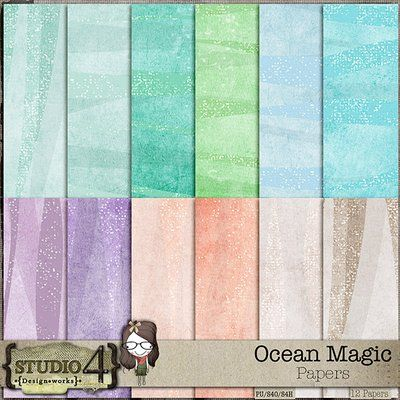 Ocean Magic - Glitter Papers