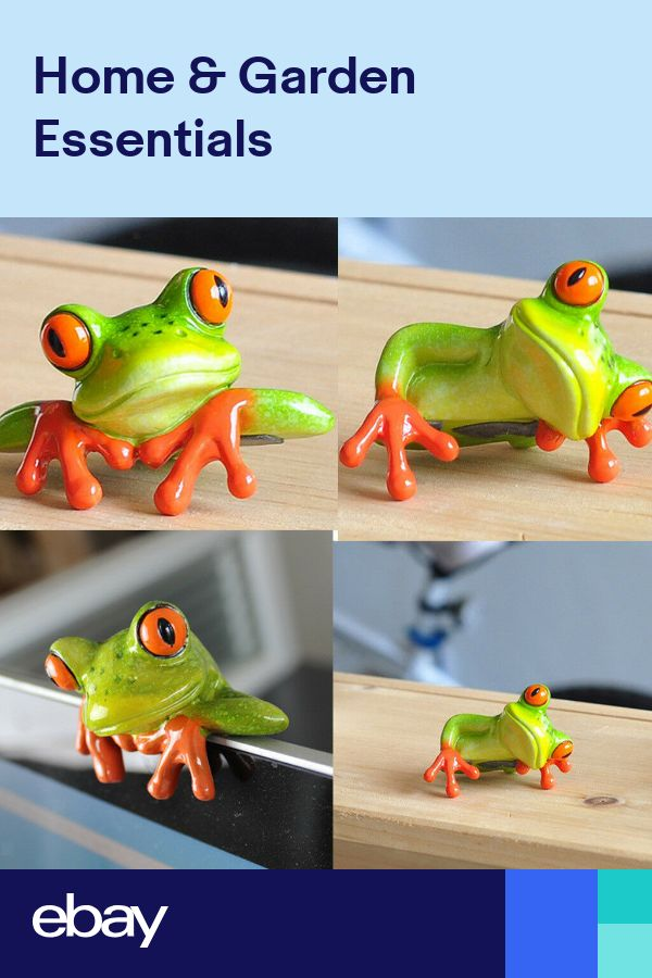 3D Creative Green Frog Statues Computer Monitor Ornaments Resin Statues