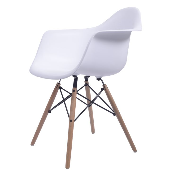 Eames DAW, Designer eetkamerstoel armleuning Gegoten polypropyleen
