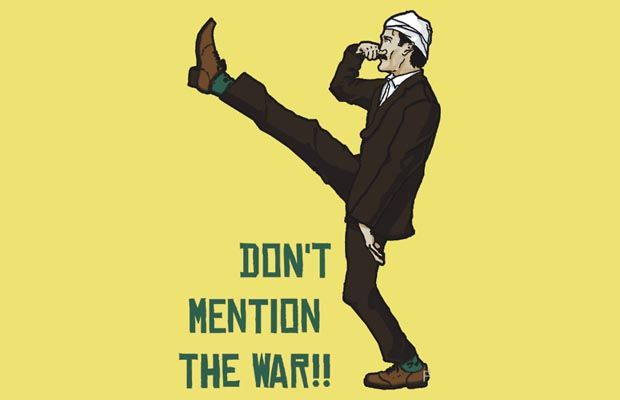 Dont mention the war T-Shirt Get yours here: http://tshirtonomy.com/go/dont-mention-the-war