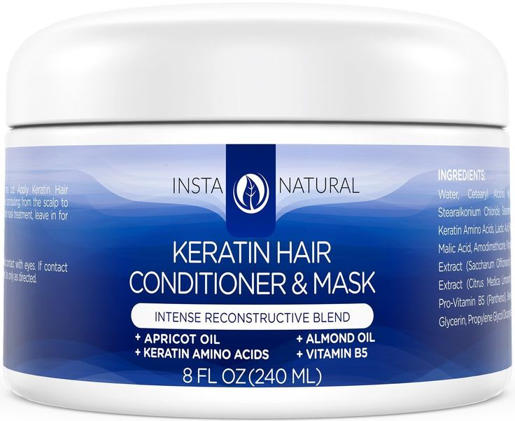 InstaNatural Keratin Complex Hair Mask - At Home Deep Conditioner Treatment for Dry, Frizzy, Fine and Damaged Hair - With Organic Argan Oil - Antibreakage Repair Cream - Dry Scalp Remedy Product - 8 OZ -- This is an Amazon Affiliate link. Read more at the image link.