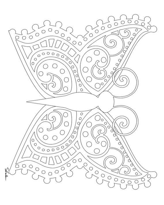 small coloring pages for adults - photo#4