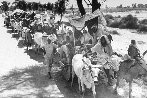 During the 1947 Partition of India millions of Muslims, Hindus and Sikhs were slaughtered based on being on the wrong side of the newly formed border. When the partition lines were drawn, many Muslims who found themselves on the Indian side of the border were targeted by Sikh and Hindu mobs. Similarly, many Sikhs and Hindus suffered at the hands of Muslim mobs in Pakistan. Estimates of the total number of dead vary from 500,000 to 1 million.