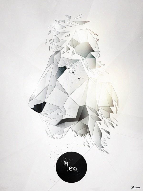 Abstract Lion Poster #poster #leukocyt @Paweł Kaczmarek Durczok @Peggy Campbell Edwardsł Durczok