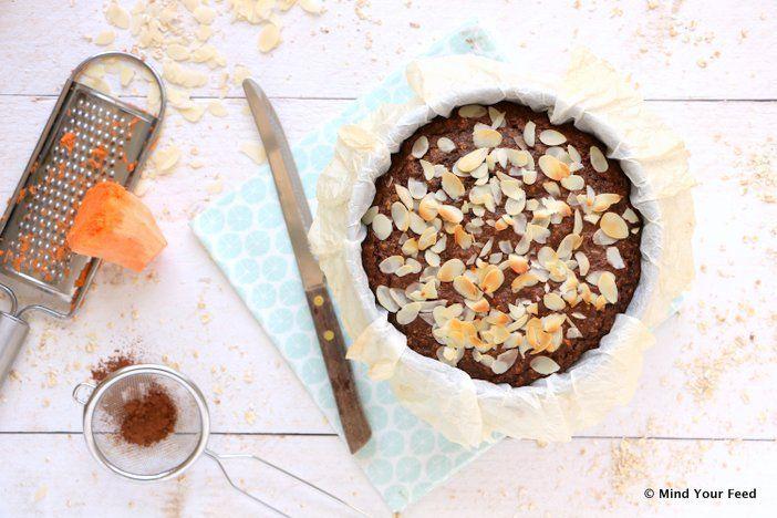 Een heerlijke zoete aardappel chocolade taart, lekker smeuïg en zoet, perfect voor bij een kop koffie of als nagerecht. Glutenvrij en lactosevrij. Cacao.