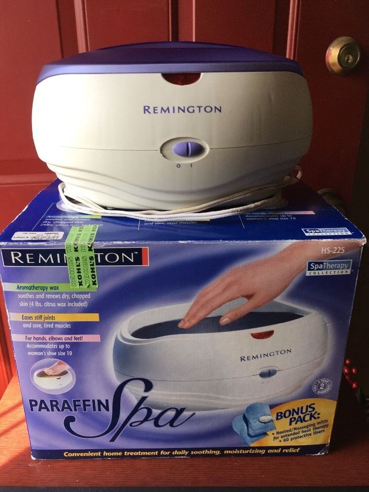 Remington Spa Therapy Paraffin Wax Heat Treatment System Mitts Liners HS-225  | eBay