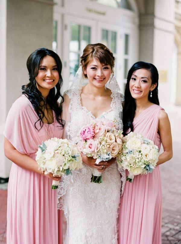 Pink bridesmaid dresses | Milton Photography on @myhotelwedding via @aislesociety
