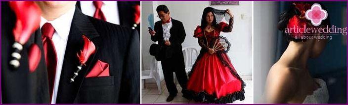 Nunta in stil spaniol - idei de design, imaginea de mire și mireasă, fotografie