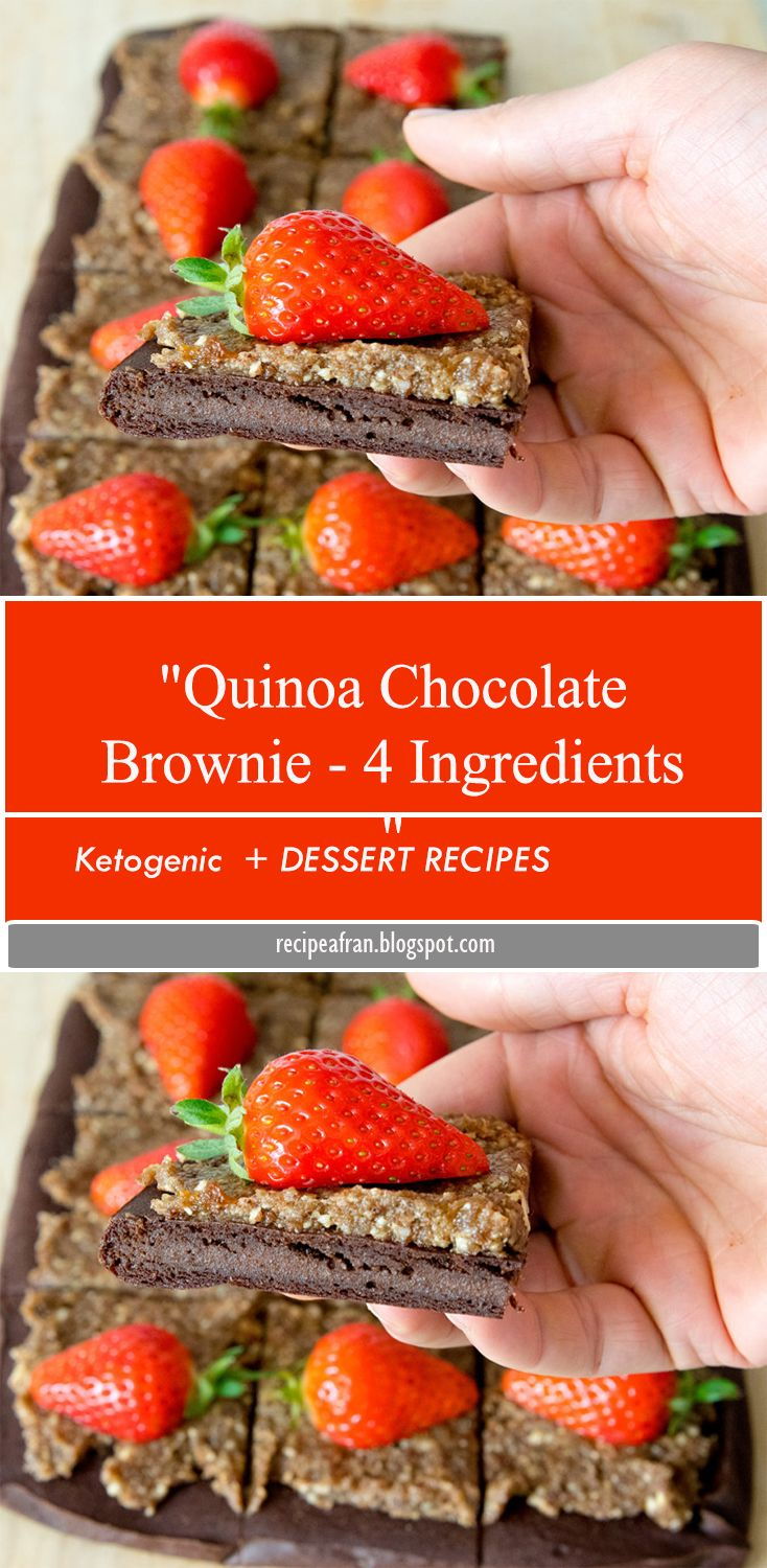 Healthy quinoa brownies that are high in protein with no