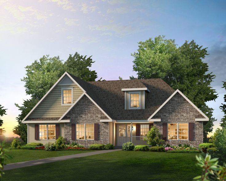 wiltshire nh366a manorwood ranch cape homes home plans pinterest ranch interiors and ranch style - Ranch Home Exterior