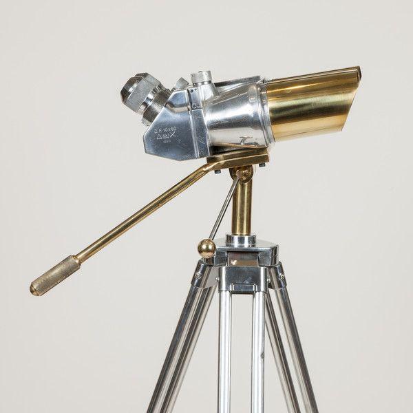 WWII tripod mounted 10 x 80 Binoculars