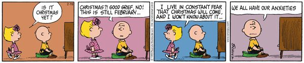 Peanuts  ~  February 19, 2016  (originally published February 21, 1969)