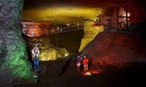 You can zip line underground through 17 miles of these Kentucky caves! - Posted on Roadtrippers.com!