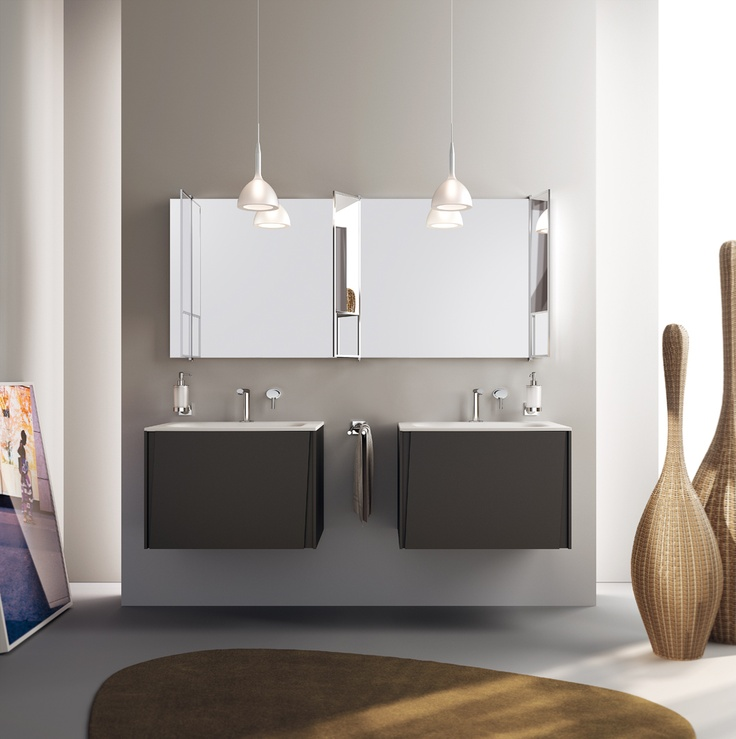 Lagu Collection by Scavolini Bathroom | Something is changing in the bathroom world   | Lagu project: vertical angled grooves for door openings | The #bathroom according to Scavolini |  #ScavoliniBathrooms |