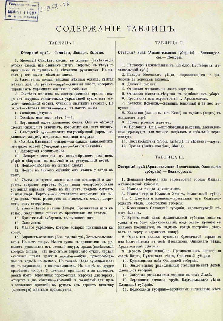 Русские народы - описание к Северному краю