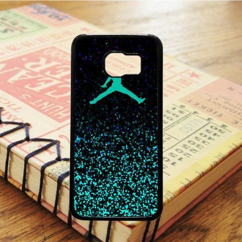 Air Jordan Jump Mint Glitter Glitter Samsung Galaxy S7 Case