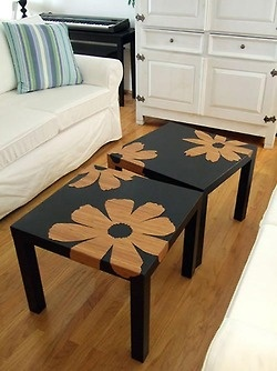 DIY 9 dollar IKEA end tables and the endless possibilities