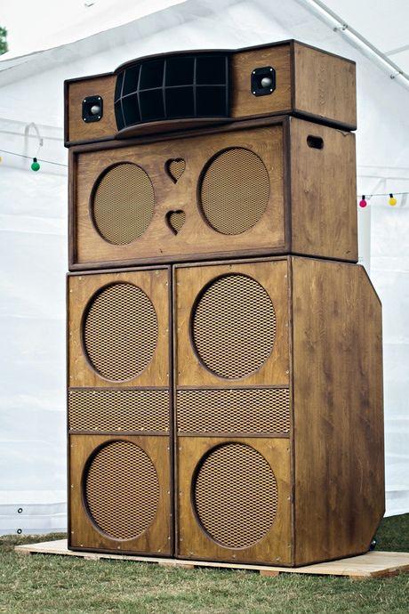 Heritage HiFi speaker boxes, custom-built by Paul Huxtable. Photograph: Elliot Baxter