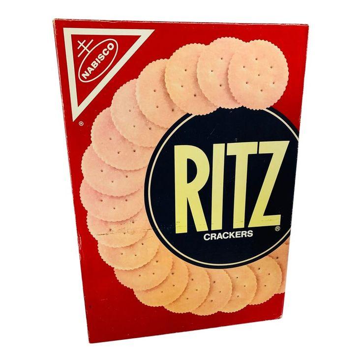 """Pop Art Prop Supersized """"Ritz """" Crackers Box"""