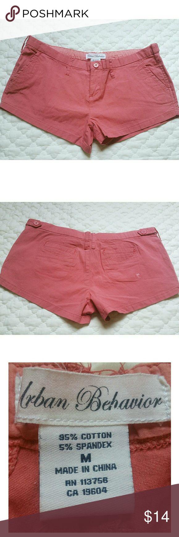 "Urban Behavior shorts M dusty pink 2.5"" inseam NWOT, never worn 7.5"" rise 2.5"" inseam 16"" flat at waistband  Dusty pink cotton Chino style Urban Behavior Shorts"