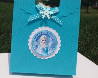 Frozen Fever Party Favor Frozen Treat Bags by HeidiPartyCreations