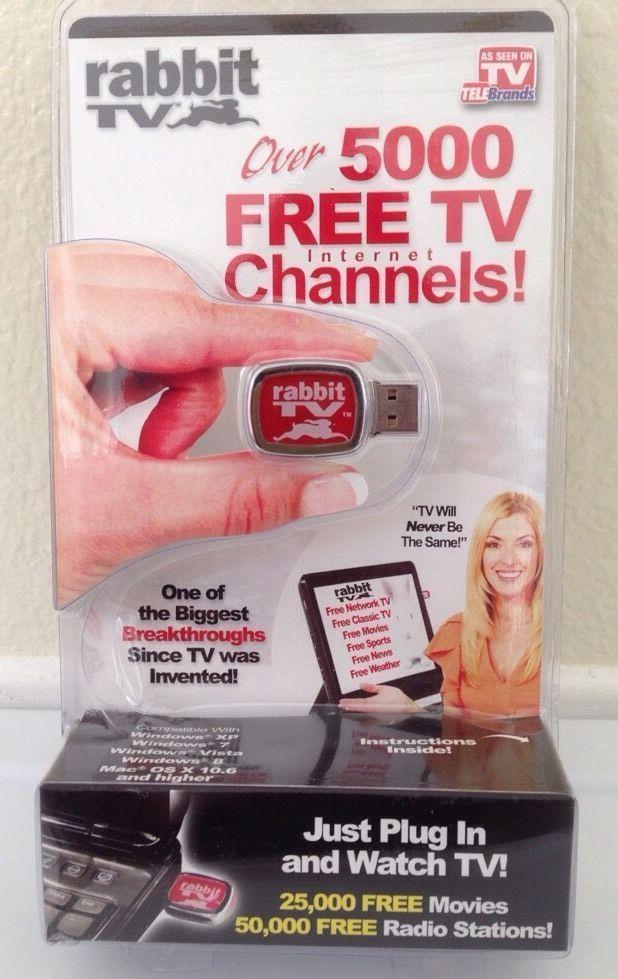 RABBIT TV USB As Seen on TV Plug In PC & Watch 5000 Free Internet TV Channels  #AsSeenOnTV