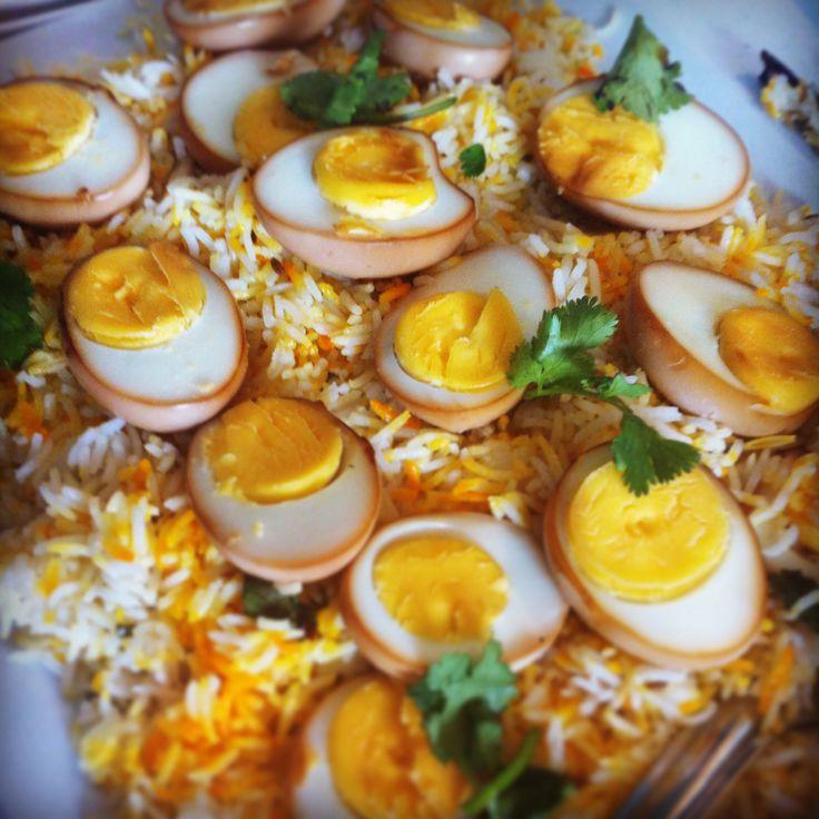 Soya Sauce Eggs on Pilau Rice #mauritian #cuisine