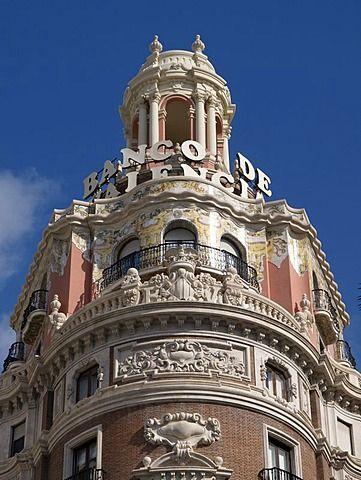 El edificio del Banco de Valencia, Valencia, España