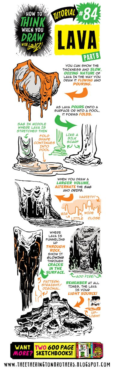 Our Monkey Nuts comicbooks take place on a VOLCANIC ISLAND, to here's a tutorial on how to draw LAVA! Check out th e KICKSTARTER HERE (9...
