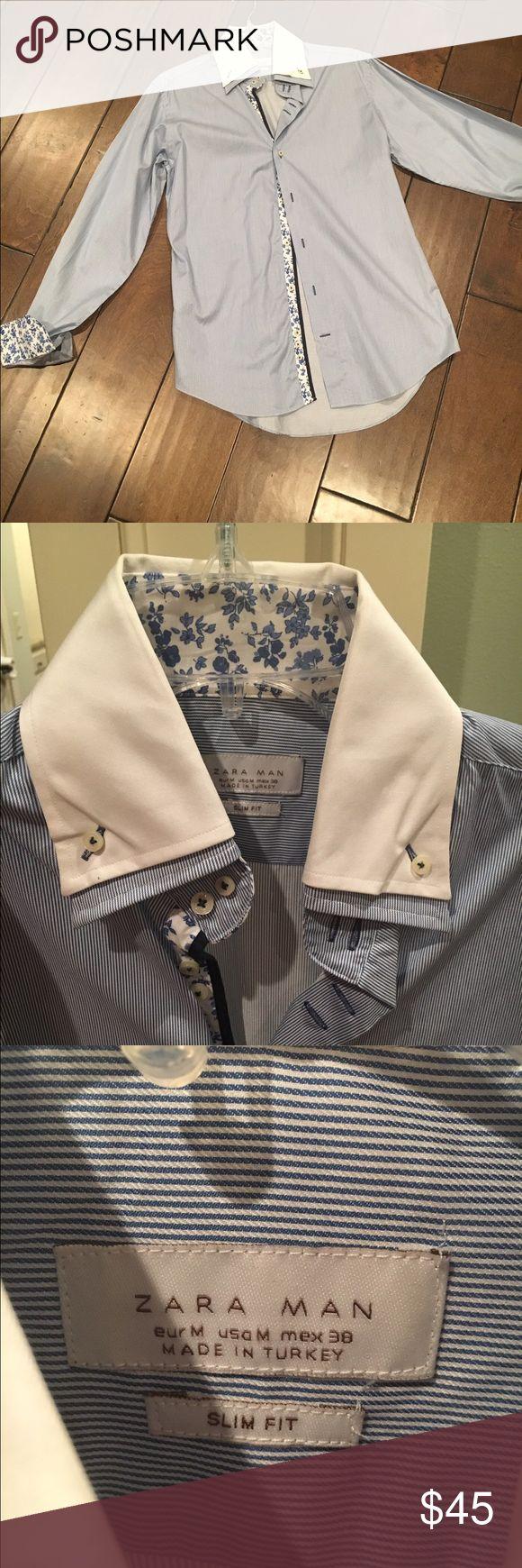 Zara slim fit dress shirt Worn once Zara dress shirt size m slim fit Zara Shirts Dress Shirts