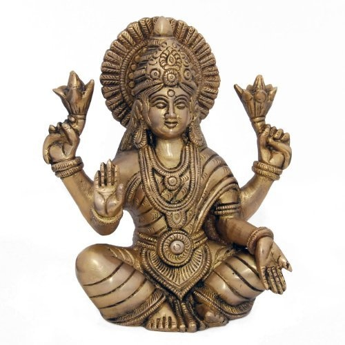 Amazon.com: Hindu Goddess Lakshmi for Wealth C0reation Sculptures Religious Gifts: Home & Kitchen