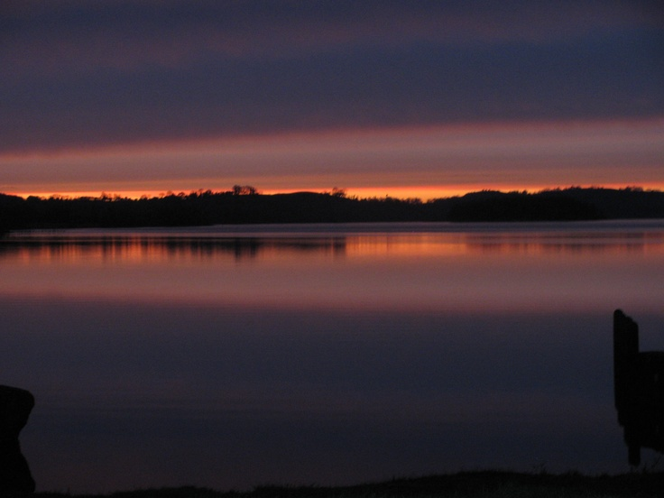 The sun setting over Lough Lene, Westmeath