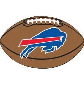 Buffalo Bills football shaped mat