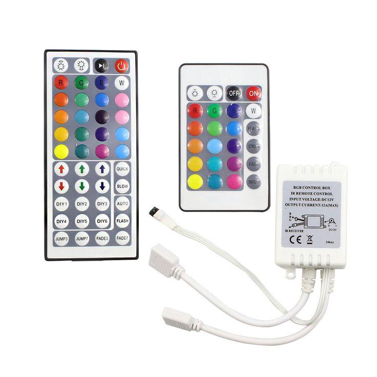 Tanbaby RGB LLEVÓ el Regulador 24/44 Llave de Doble Puerto de Salida conectores DC12V 2 Puertos Dimmer para 3528 5050 RGB led strip luz