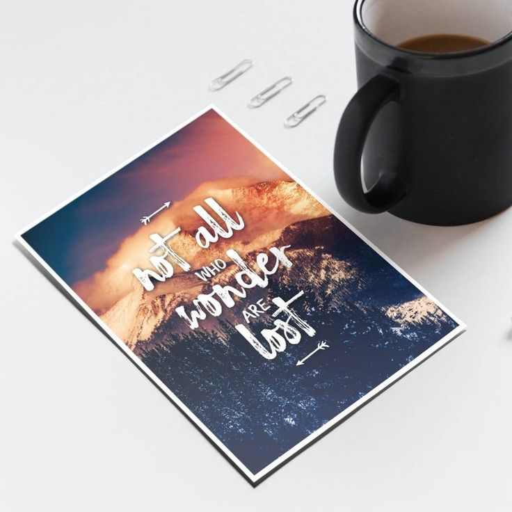 Not All Who Wonder Are Lost - Note Cards - Handmade in New Zealand by Bespoke Art