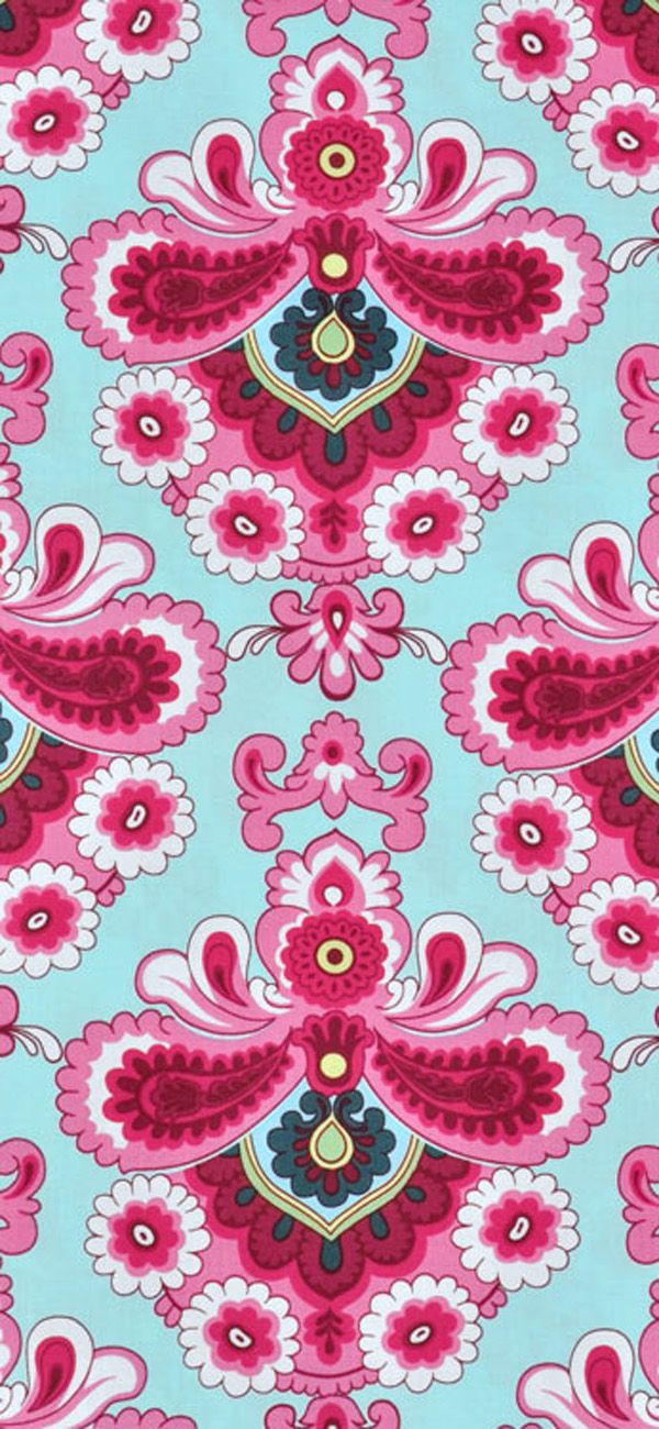 Amy Butler French Wallpaper Duck Egg Fabric #pink #blue #quilting #apparel #sewing