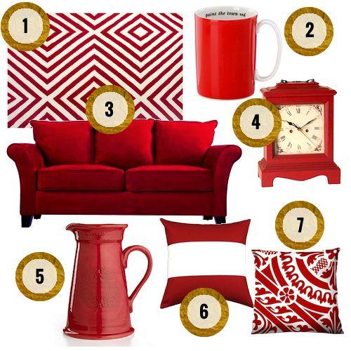 HAMPTONS STYLE: AT HOME: BE MINE? #zincdoor #designboard #valentines #red #decor