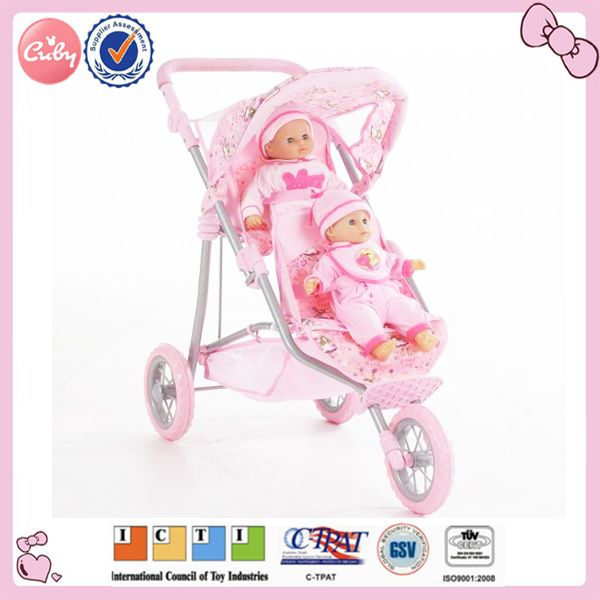 New design on sale cheap baby dolls stroller with carrier