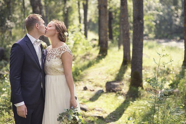 Forest wedding portrait