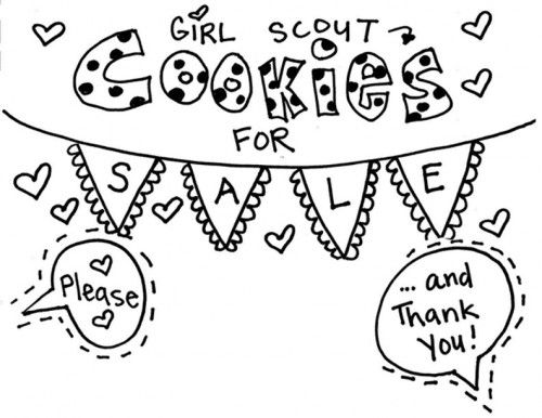 coloring page girl scout cookie coloring pages at girl