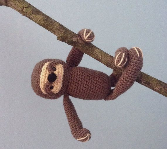 Sloth Crochet Pattern - New Pattern I just listed.  Super easy to crochet - finished Sloth is about 13 inches long.