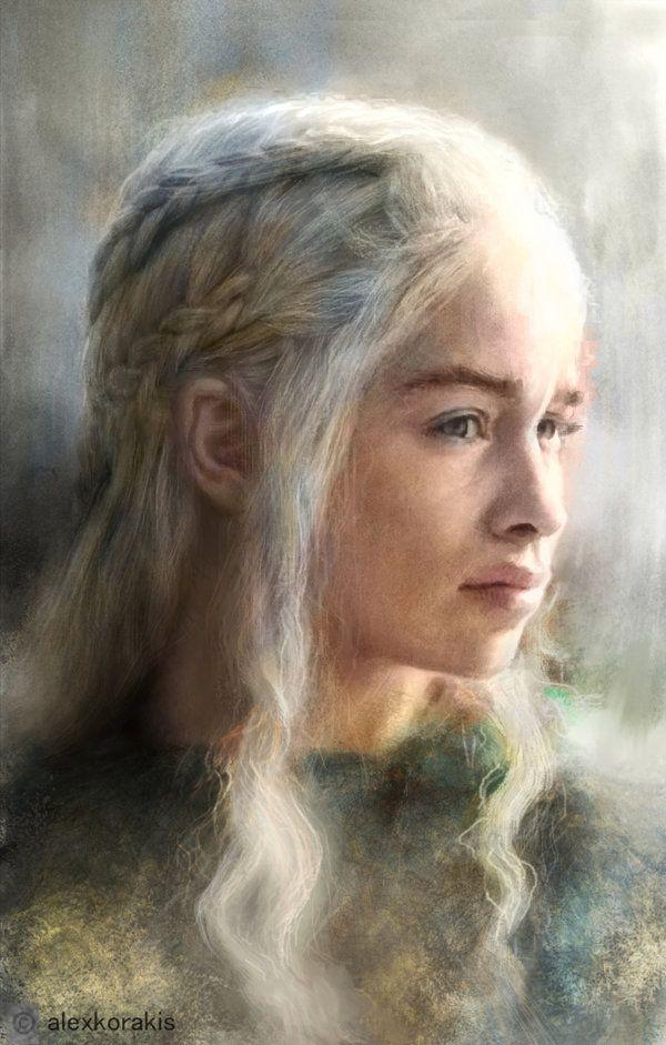 Daenerys portrait Alexandros Korakis by alexkorakis.deviantart.com on @DeviantArt