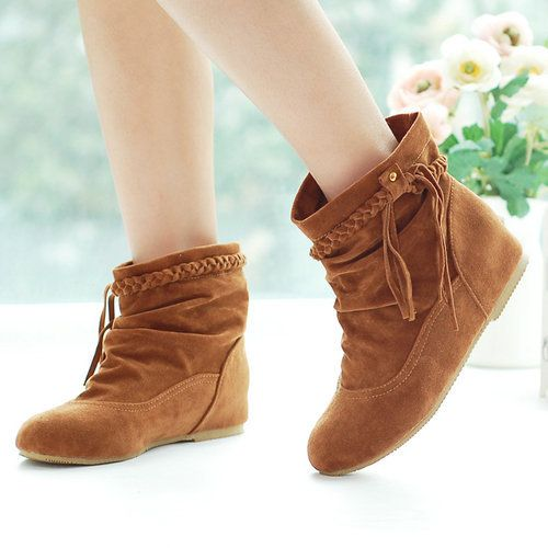 2013 new style fashion sweet flat boots for women shoes round toe sexy casual ankle boots drop wholesale WLY1 2-in Boots from Shoes on Aliex...
