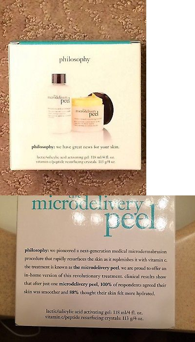 Masks and Peels: Philosophy Microdelivery Peel (2 Pc) System Jumbo 4 Oz Each! Sealed New In Box BUY IT NOW ONLY: $61.0